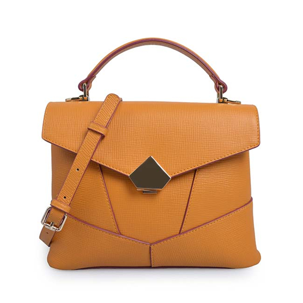 oft Leather handbag Tote bag with magnet closure.
