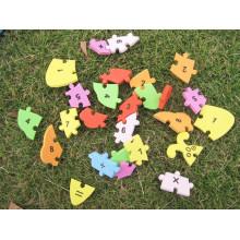 Letras de alfabeto de espuma de EVA que se enclavija educativo números Puzzle Mat nuevo