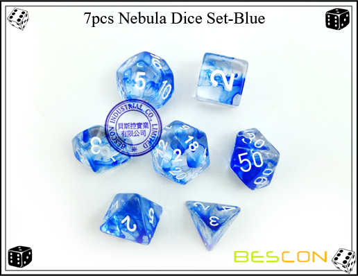 7pcs Nebula Dice Set-Blue-3
