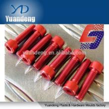 Red anodized aluminum socket head cap screws