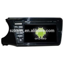 NOUVEAU! DVD de voiture avec lien miroir / DVR / TPMS / OBD2 pour 9002 pouces 4.4 Android système Honda City 2014