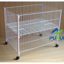 Rolling Metal Wire Display Bin (PHY506)