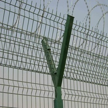 SGS/CE/ISO9001 PVC gecoate Airport Security Fence