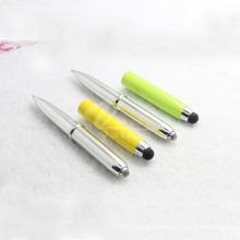 Fancy Unique LED Light Stylus Pen with Flashlight