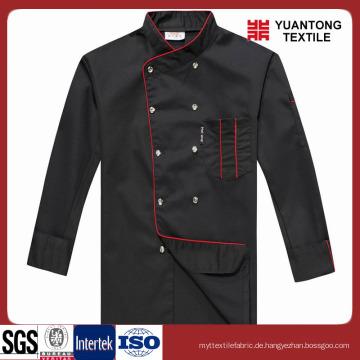 Modische schwarze Farbe Chef Kleidung
