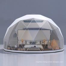 Outdoor transparent PVC fiberglass family camping tent garden aluminium frame geodesic dome tent for camping