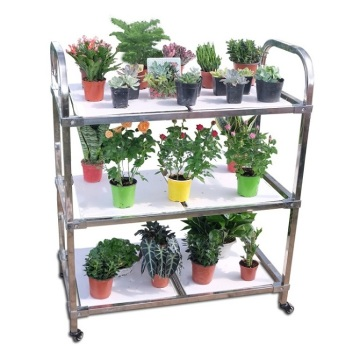 Greenhouse Transport Foldable Metal Flower Trolley Cart