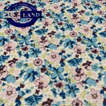 Usine fournisseur imprimer polyester lycra spandex élastique escalier carré chiffon gants tissu