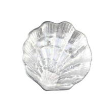 Assiettes en verre couleur coquillage