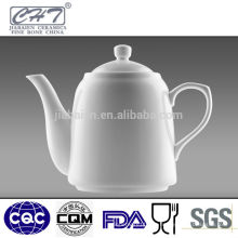 Porcelana blanca de hueso fino de café porcelana té tetera