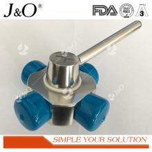Válvula de esfera nova de aço inoxidável sanitária do tipo 4