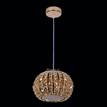 Rose Gold Lighting fixtur modern K9 ljuskrona