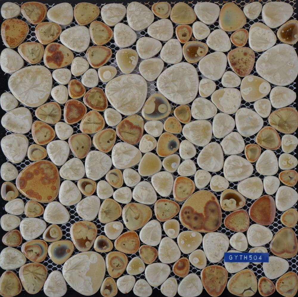 Chinese Style Glazed Ceramic Mosaic