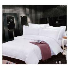 400T Égyptien Coton Blanc Jacquard Hôtel 5 étoiles Ensemble de literie de luxe