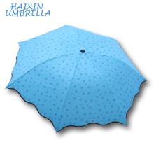 Promoción personalizado chino lindo ligero peso anti lluvia UV y el sol Super Mini fabricante de paraguas de bolsillo Yiwu