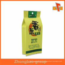 Snacks packaging side gusset plastic pouch for nuts with hole alibaba supplier