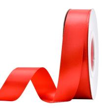 Factory Custom logo merry christmas  Polyester satin ribbon