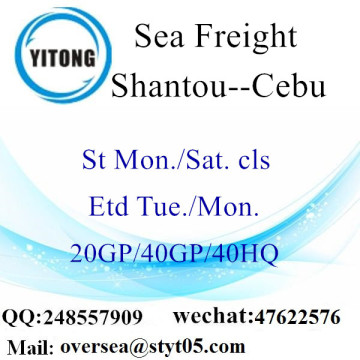 Shantou Port Sea Freight Shipping To Cebu