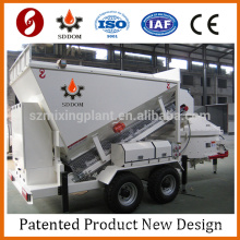 China low cost compact belt type hauling 35m3/h mobile concrete admixture mixing plant 2016 new design