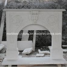 Simples estilo mármore lareira com mão esculpida (SY-MF217)