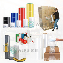 Alps 20Um 23um Plastic Clear Stretch Film Wrapping Colored Lldpe Stretch Film Black Packing Stretch