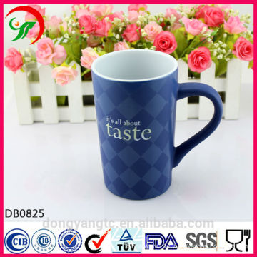 2015 New Design Wholesale Custom LOGO glazed coffee ceramic mug