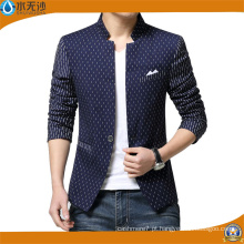 Nova moda Mens Cotton Blazer Homens Suit Slim Fit Blazer