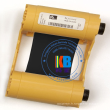 ruban thermique original de carte d'identité de couleur noire de zèbre de la série 3 de ZXP