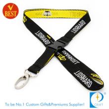 Lanyard tecido de qualidade de boa qualidade em alta qualidade com logotipo personalizado publicidade