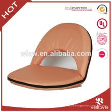 Sillas de piso 100% poliéster Esponja de relleno interior de marco metálico