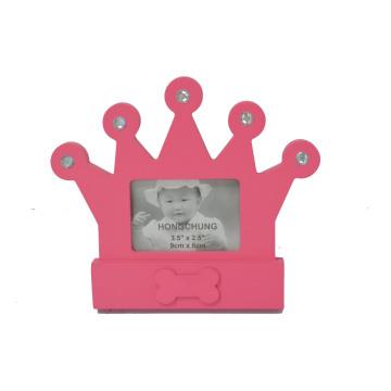 Bonito, coroa, quadro, quadro, bebê, PRESENTE
