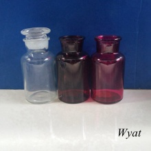 250ml Colored Glass Reagent Bottle Painted Laboratory Glass Bottle with Lid