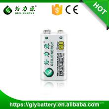 Batería recargable del polímero 9V 680mah del poder más elevado del precio al por mayor de Geilienergy