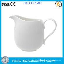 Pot à crème glacée à café en porcelaine blanche