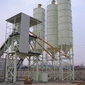 HZS60 stationary concrete batching plant in Russia