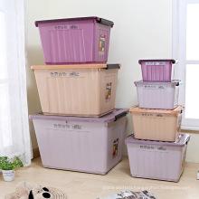 Plastic storage box with wheels Portable box Vehicle storage box