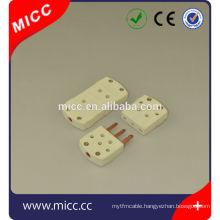 3-pin thermocouple plug socket