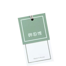 Matte Custom Clothing Tagger Hangtag Printed Paper Tag