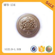 MFB134 Bouton métallique en alliage de zinc, bouton E-friendly pour coudre depuis la Chine