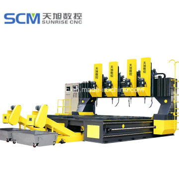Lembar Tabung Muti-Spindle CNC Drilling Milling Machine