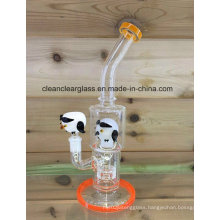 """12"""" Glass Water Pipe Glass Smoking Pipe with Tyre Perc"""