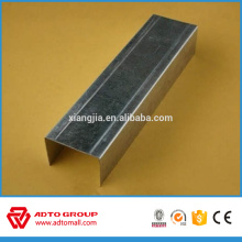 Drywall partition system light gage steel metal ceiling track
