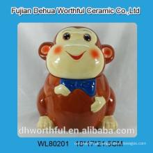 Engraçado, cerâmico, biscoito, jarro, macaco, FORMA