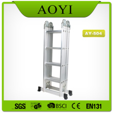 Escalera plegable de aluminio de 4 secciones