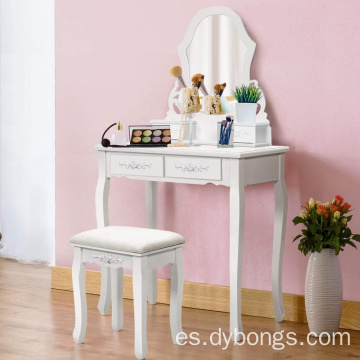Factory Wooden mirrored dressing table designs