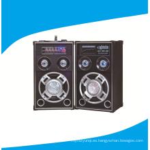 8 pulgadas 2.0 Powered altavoces DJ con disco de luz 6006
