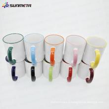 11oz сублимационная керамическая белая кружка в продаже, круглая и цветная кружка для рук