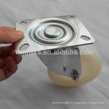 Roue de roulette industrielle en nylon blanc de 100mm