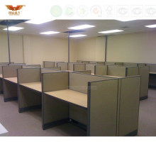 Simple Design Office Wooden Workstation Computer Cubicles (HY-273)