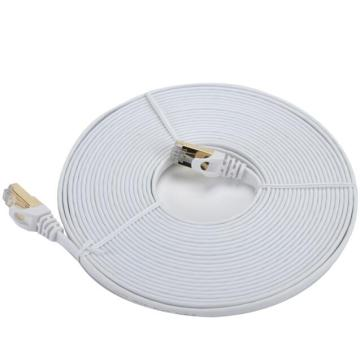 Diseño plano de cable Ethernet con blindaje doble CAT7